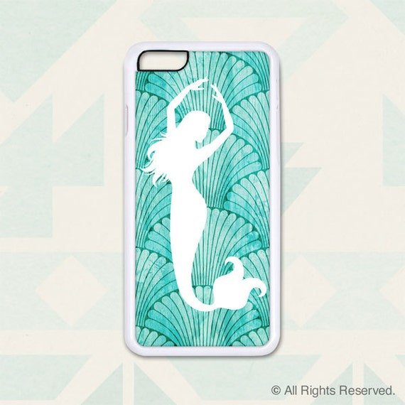 Mermaid with Shell Background - Design Cover 215 - iPhone 6, 6+, 5 5s, 5c, 4 4s, Samsung S3, S4, S5