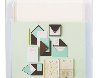 Martha Stewart Set Your Own Stamp Case with Stamps and Mount, 318 pieces
