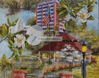 Fort Gordon Collage print by Anni Moller