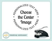 Embosser - CHOOSE THE IMAGE Style - Desk Model - Personalized Text Address - Embossing Seal Stamp - Choose From Over 200 Images