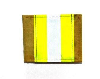 Decommissioned Firefighter Bunker Gear Bi Fold Wallet Khaki Lime SKU: BGBIFKI-LI