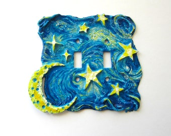 Starry Starry Night Switch Plate, double toggle