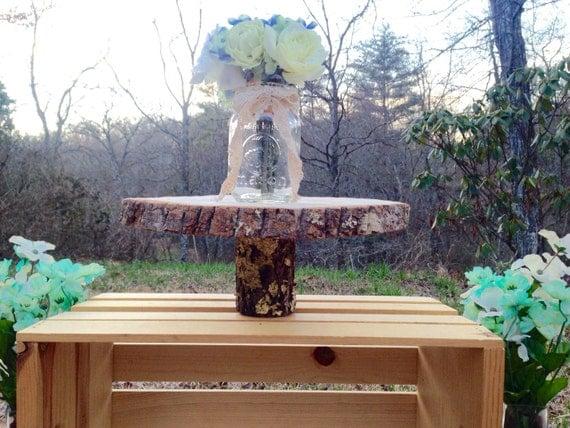 Items similar to rustic wedding centerpiece pedestal