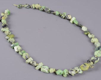 """0469 10-11mm AAA faceted Australian Lemon chrysoprase nugget Irregular knotted loose gemstone beads 16.5"""""""