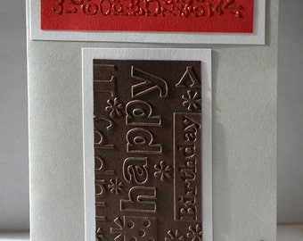 "Map ""Happy birthday"" cold embossing"