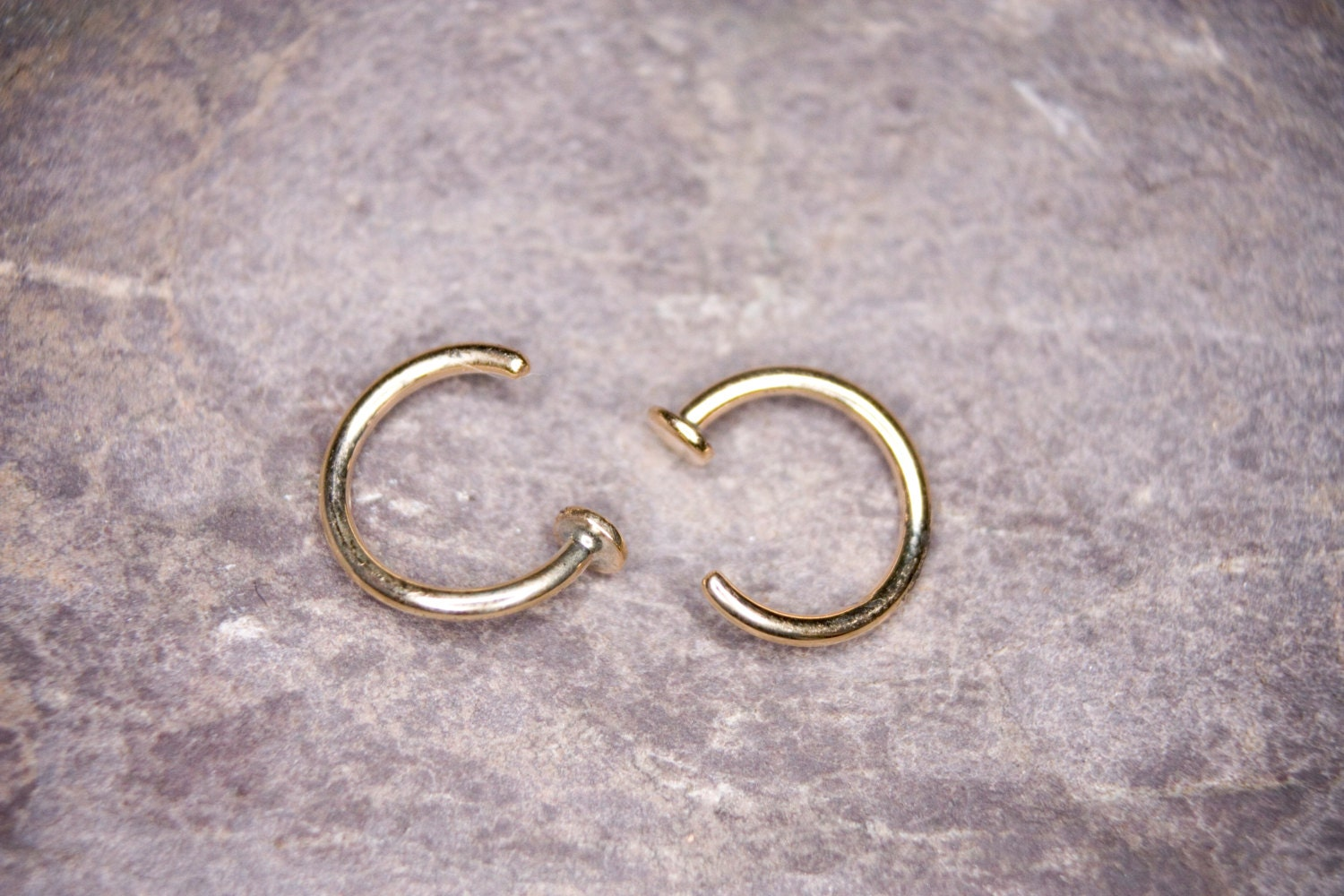 1mm gold nose ring handmade 9ct gold nose piercing
