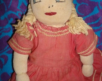 14 inch Homemade Vintage Rag Doll
