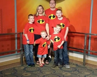 Incredible Disney family shirts