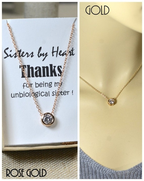 Appropriate Wedding Gift For Friends Daughter : Gift for sisters, best friends necklace,bff,layered necklace,rose gold ...