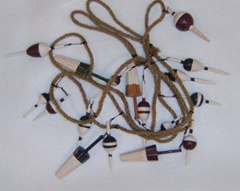 Fishing Bobber Garland Perfect for Window Treatments, Add to Nautical Displays,  Craft Supply