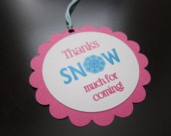 Snowflake Favor/Gift Tag
