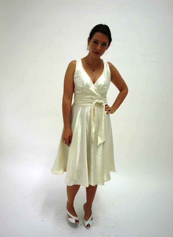 Ivory Hemp Silk Dress - eco wedding dress Rose