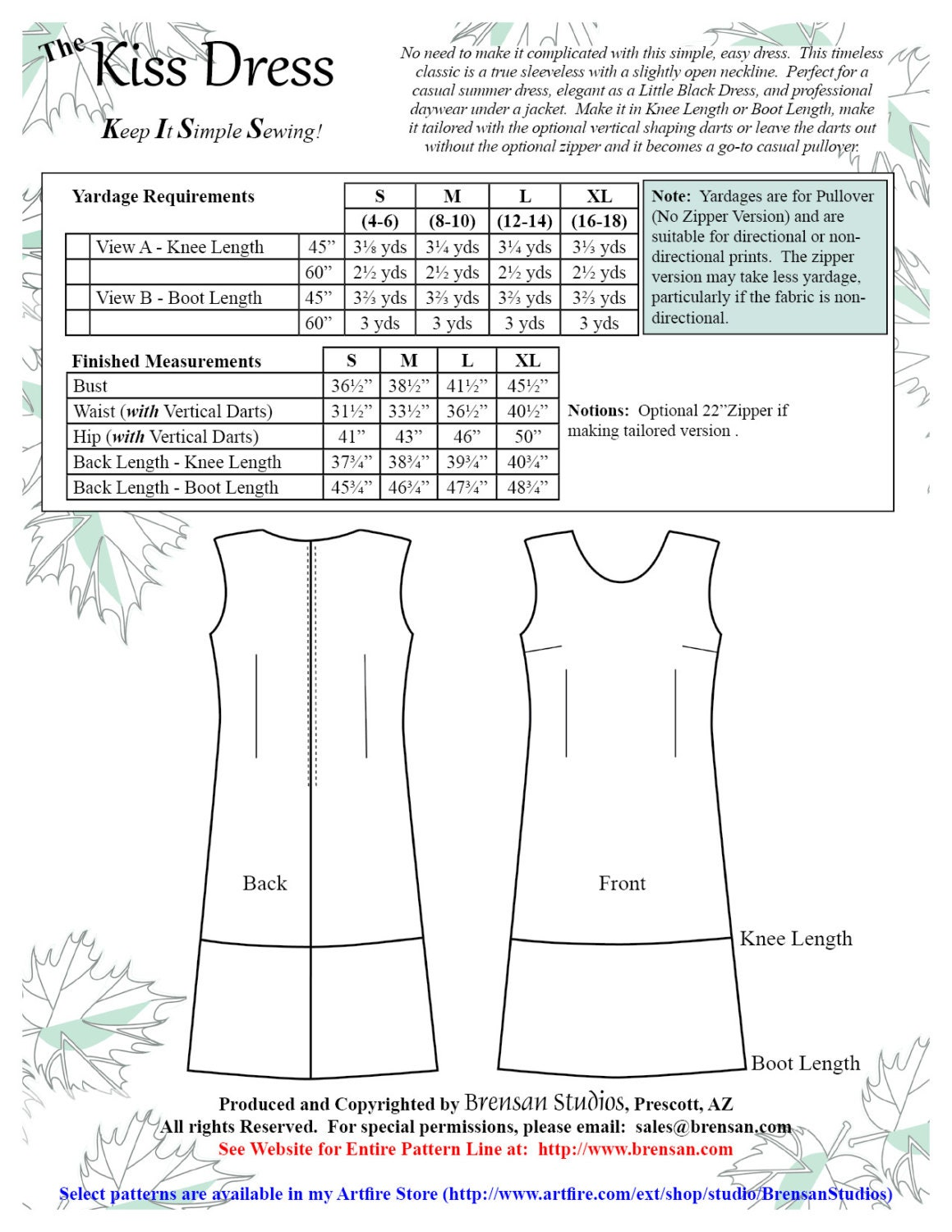 Kiss dress sewing pattern keep it simple sewing easy dress 1495 jeuxipadfo Image collections