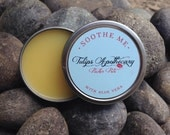SOOTHE ME Pucker Pot, 1 ounce Aloe Vera and Beeswax Lip Balm Tin, Natural Handmade Balm with Jojoba Oil, Wound Healer, Cocoa Butter Balm