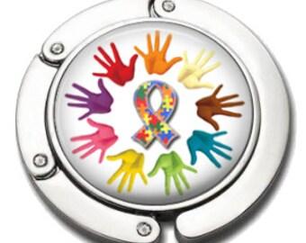 Autism Awareness Purse Hanger - Autism Awareness