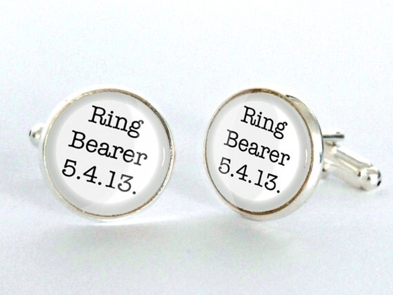 ring bearer cufflinks wedding gift for him best man With wedding gifts for ring bearer