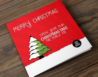 Grow Your Own Christmas Tree Christmas Card