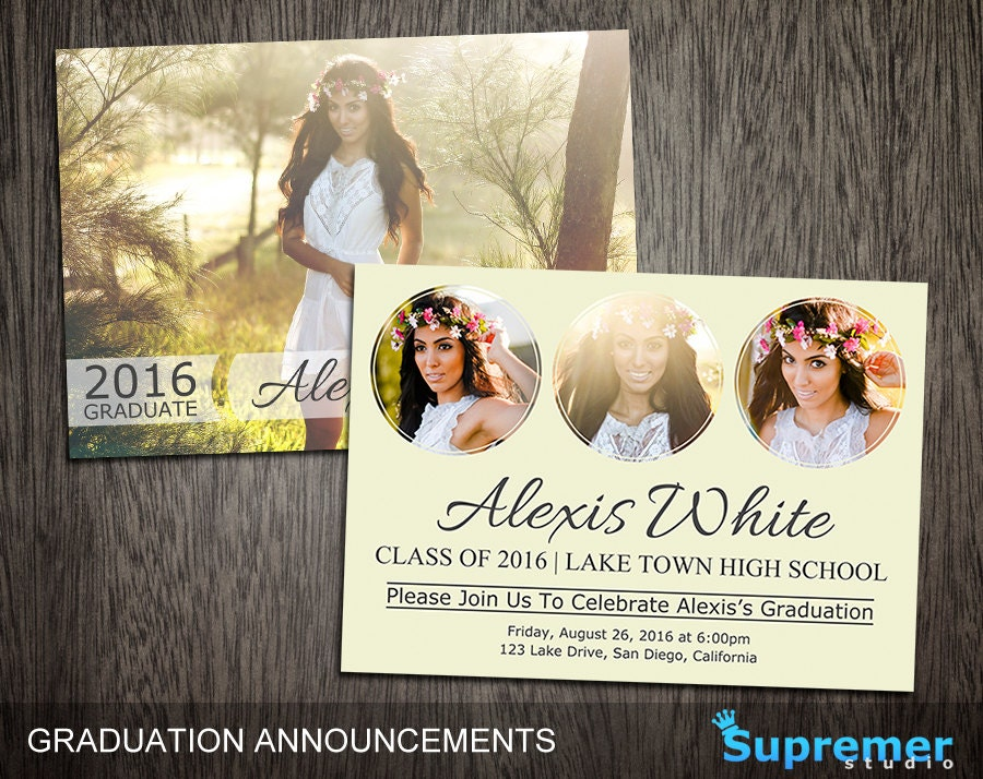 Graduation announcements templates graduation card templates for Senior announcement templates free