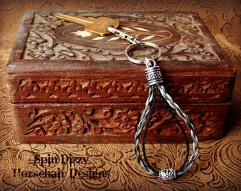 "The ""John REIN"" Double Strand Horsehair Key Chain"