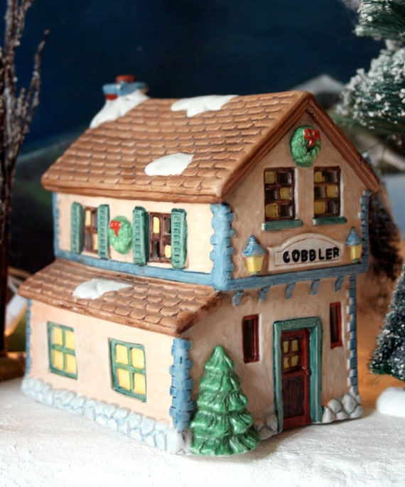 Christmas Decoration. Illuminated House As Christmas Village