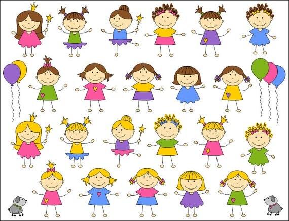 Cute Kids Digital Clip Art Baby Girl Digital Clip Art