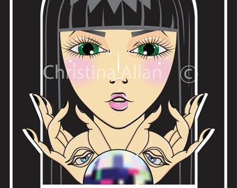 Crystal ball print