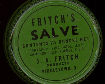 1920's Fritch's Salve Tin Vintage Drugstore (NOS)