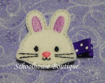 Lavender Easter Bunny Rabbit Felt Hair Clips, Easter Basket Filler, Feltie hair clip, Feltie, Felt Hair Clippie,Felt Hair Bow