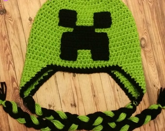 Minecraft Creeper Winter Scarf Beanie Hat Apps Directories