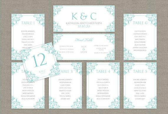 printable wedding seating chart template by karmakweddings. Black Bedroom Furniture Sets. Home Design Ideas