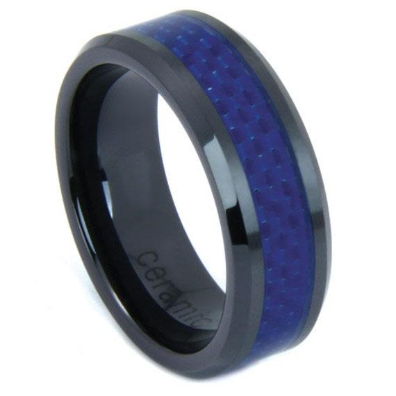 Mens Ring Mens Wedding Band Black Ceramic Gifts By CDesignsFashion