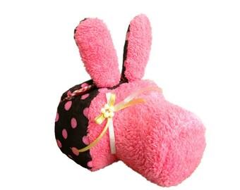 Custom DSLR Camera Case Bag, Cute Pink Rabbit, Made to Order