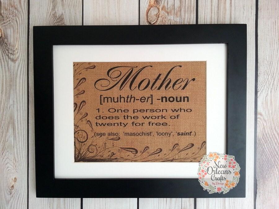 Mothers Day Framed Burlap Print Framed Burlap Print