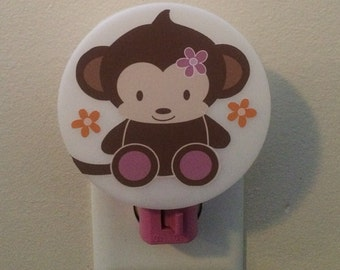 Nightlight Night Light M2M Cocalo Jacana Monkey Zebra Nursery Bedding Decor