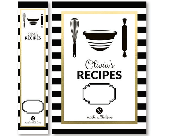 Recipe Book Cover Black And White ~ Unavailable listing on etsy