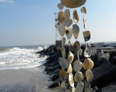 Sea Shell Wind Chime, Nautical Decor, Nautical Windchime, Beach Chime, Sea Shell Art, Beach Wedding
