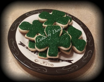 Shamrock Sugar Cookies (1 Dozen)