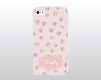 Floral iPhone 4/4S, 5/5S, 5C or 6/6 Plus Case - Pink Floral Phone Case - Personalized Gift for Her