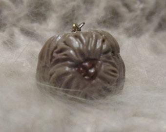 Chocolate English Angora Crochet/Knit Stitch Marker Charm Free Shipping!