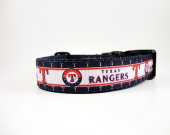 Texas Rangers Dog Collar Adjustable