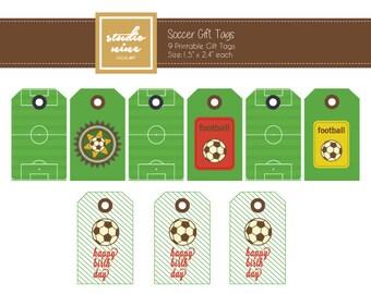 Soccer Printable Gift Tags