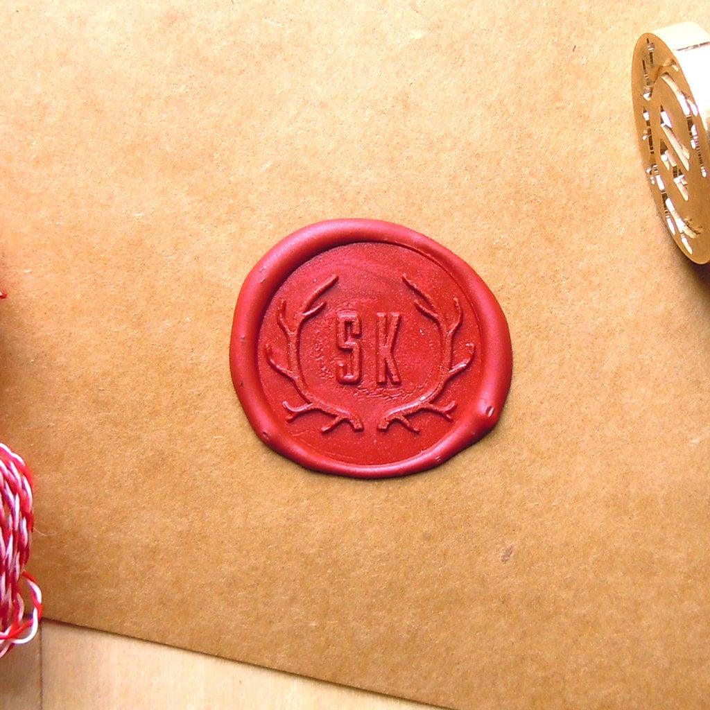 wax seal stamp monogram initials antler stamps custom order