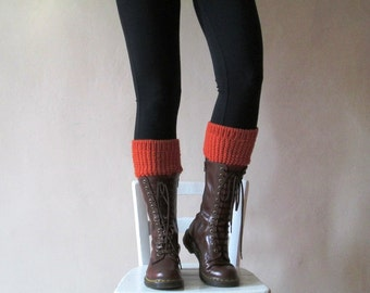 knit boot cuffs, knitted leg warmers, made to order boot cuffs, Merino knit boot toppers