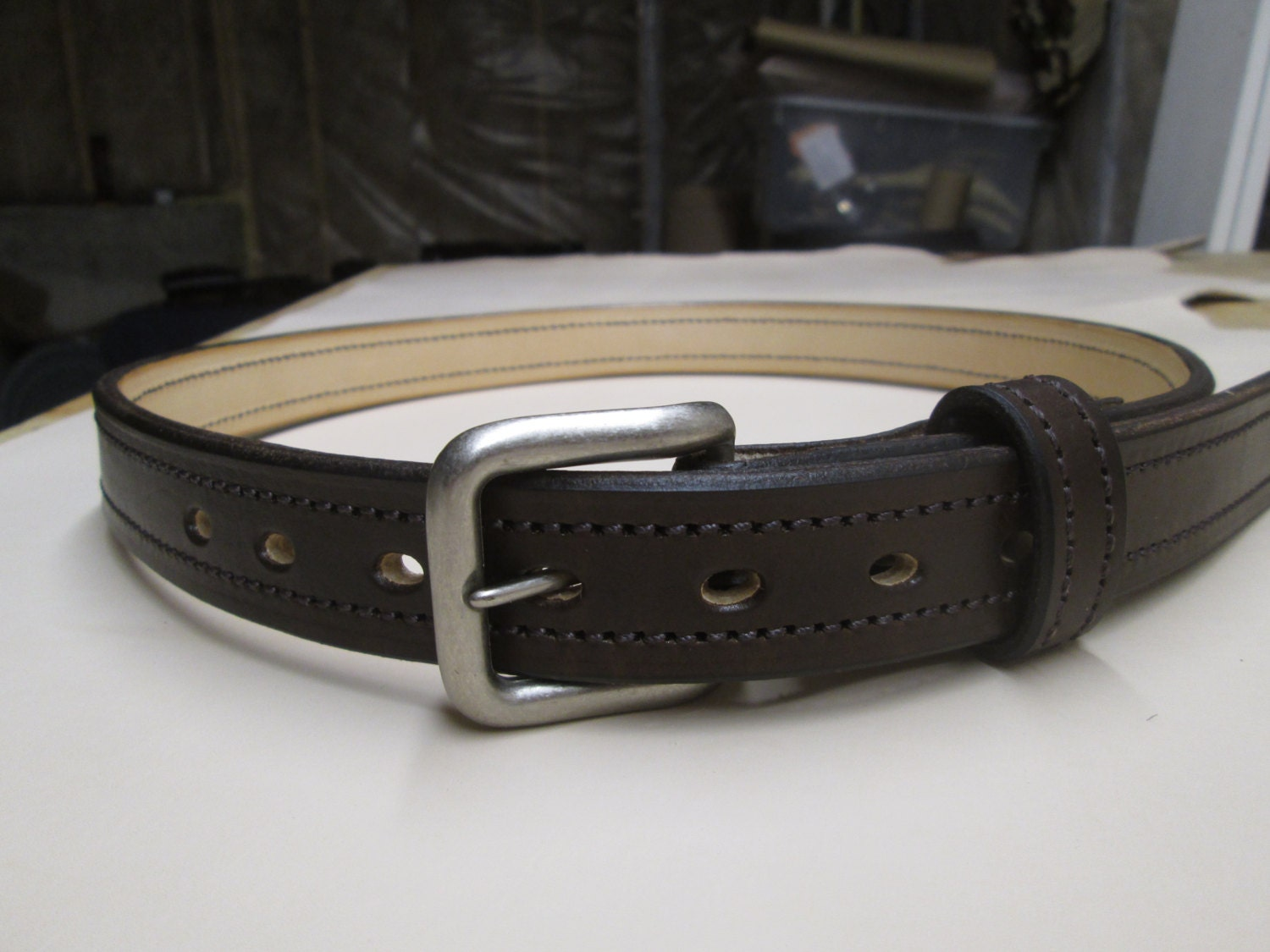 1 1 4 handmade leather gun belt handcrafted leather