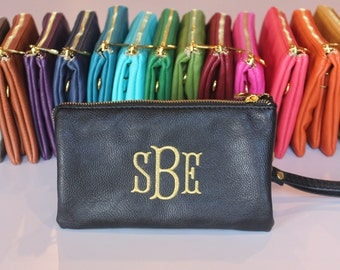 Monogrammed Crossbody Bag | Faux Leather Crossbody | Ladies Crossbody | Monogram Purse | Crossbody Purse |  Gold Zipper