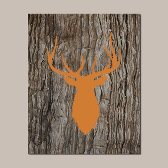 Rustic Nursery Wall Decor : Items similar to deer nursery art decor