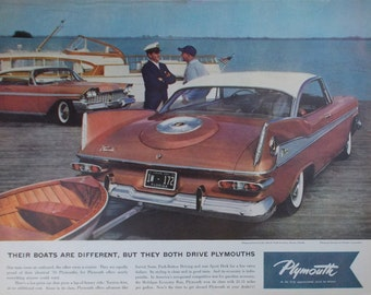 Vintage print ad from 1959 for Plymouths
