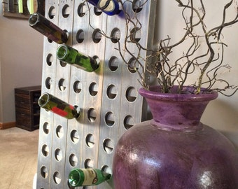 Samantha Wood Riddling Wine Rack Panel - 29W x 2D x 58H