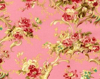 RJR Fabrics Robyn Pandolph Rose Hill Lane 1861 02 Floral on Pink Yardage