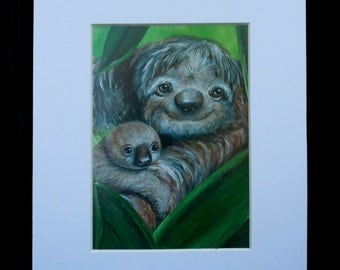 Momma and Baby Sloth